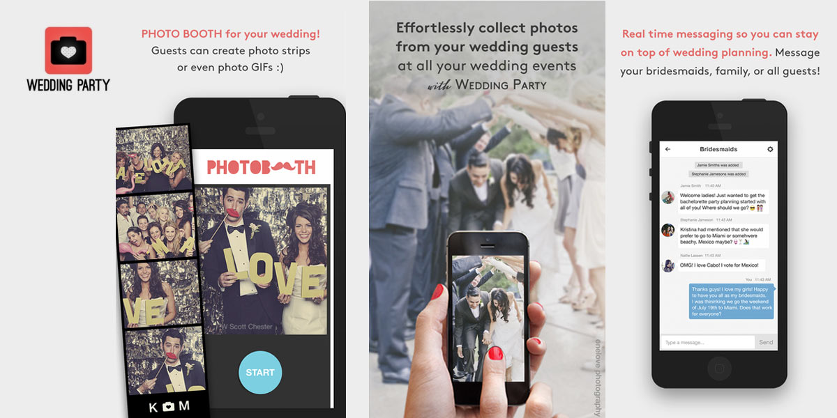 Five wedding apps to make planning a cinch love affair wedding party app junglespirit Choice Image