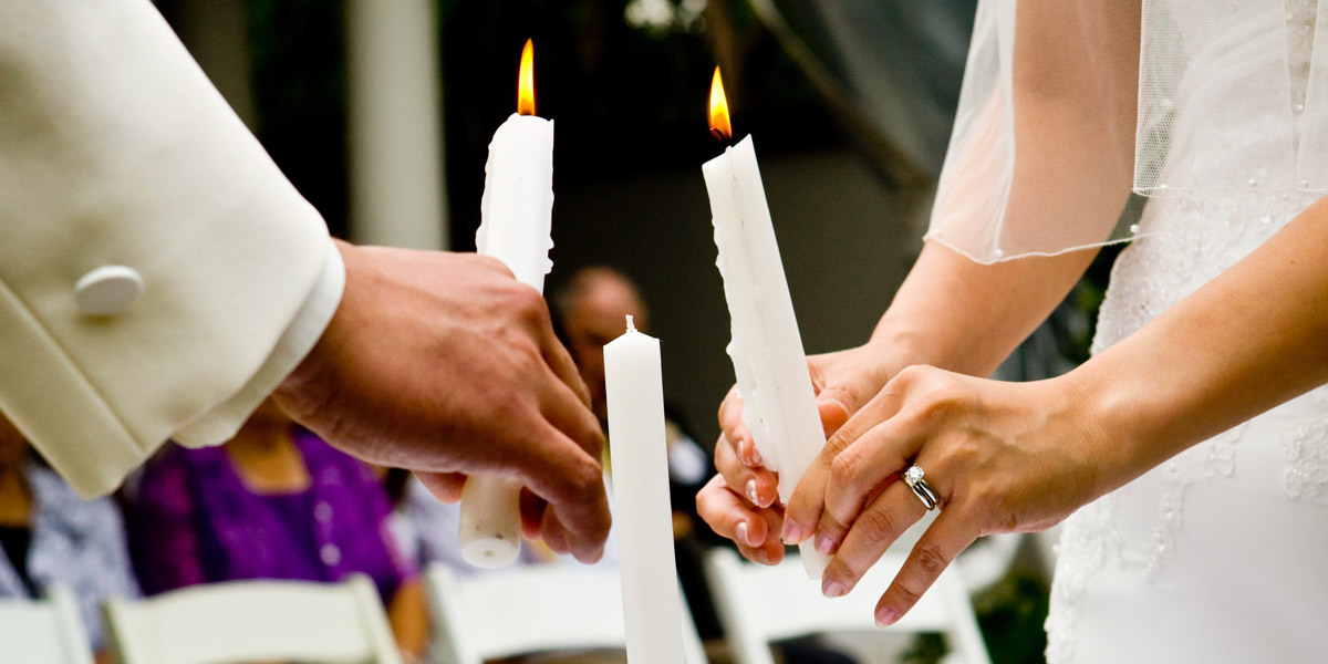 Arguably The Most Popular Secular Wedding Ritual Is Unity Candle Ceremony This Symbolic Begins When A Representative From Each Of Two